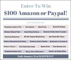 $100 PayPal/Amazon Giveaway for a Happy 2017!
