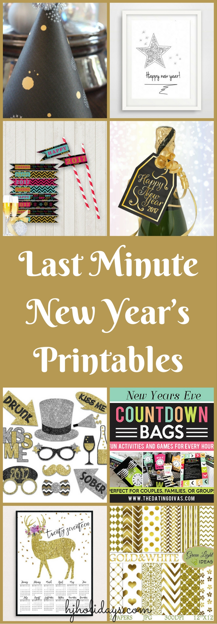 Last Minute New Year's Printables