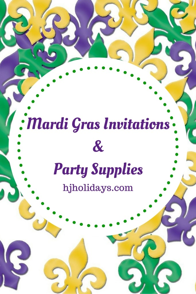 Mardi Gras Invitations and Party Supplies