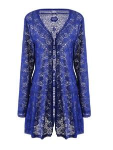 Meaneor Women's Waterfall Long Lace Crochet Bolero