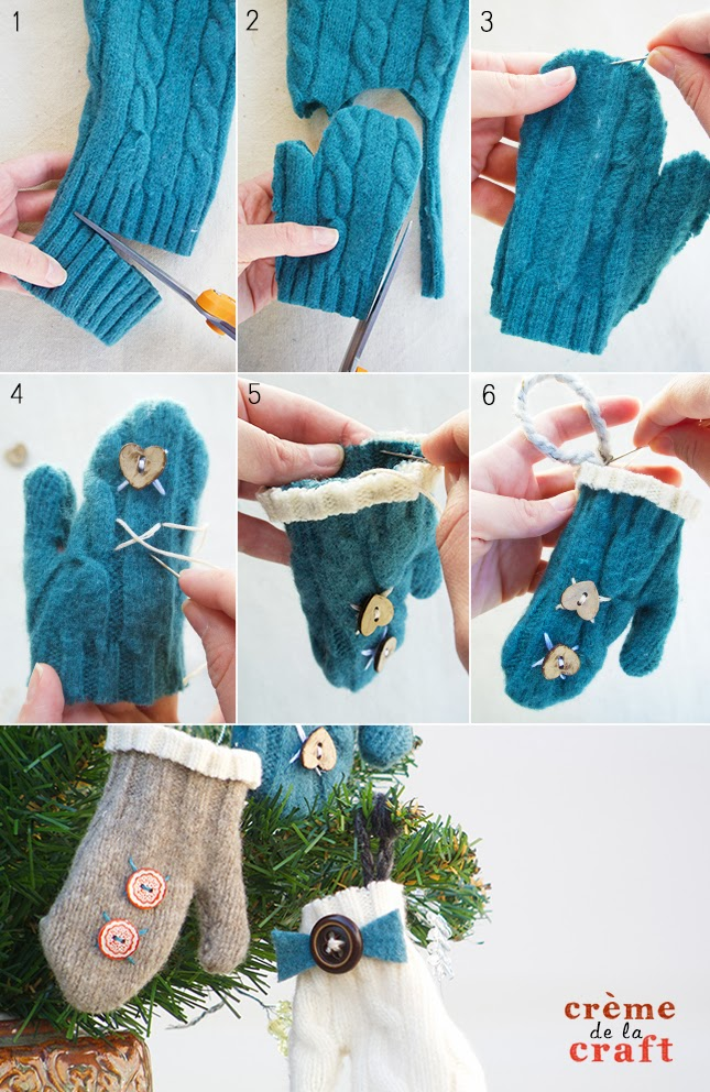 Mitten Christmas Ornaments