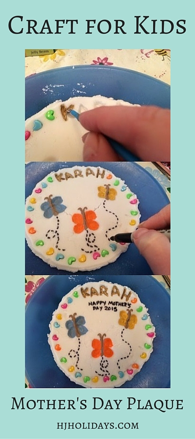 Kids Craft Mothers Day Plaque