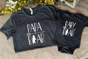 Papa Bear, Mama Bear and Baby Bear T-Shirts and Other Gifts for New Parents