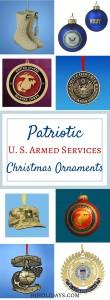 Patriotic U. S. Armed Services Christmas Ornaments