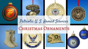 Patriotic U. S. Armed Services Christmas Ornaments