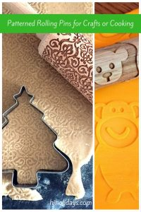 Patterned Rolling Pins for Crafts or Cooking