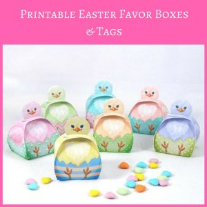 Printable Easter Favor Boxes and Tags