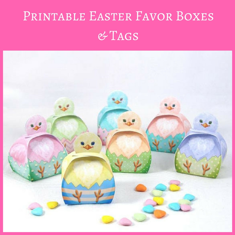 Printable easter favor boxes and tags holly jolly holidays negle Choice Image