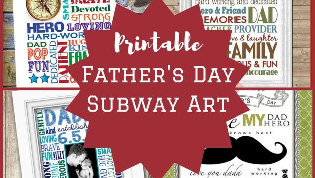 Father's Day Printable Subway Art