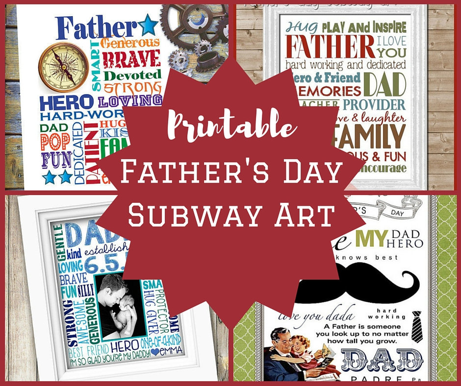 Printable Fathers Day Subway Art