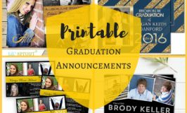 Printable Graduation Announcements and Cards