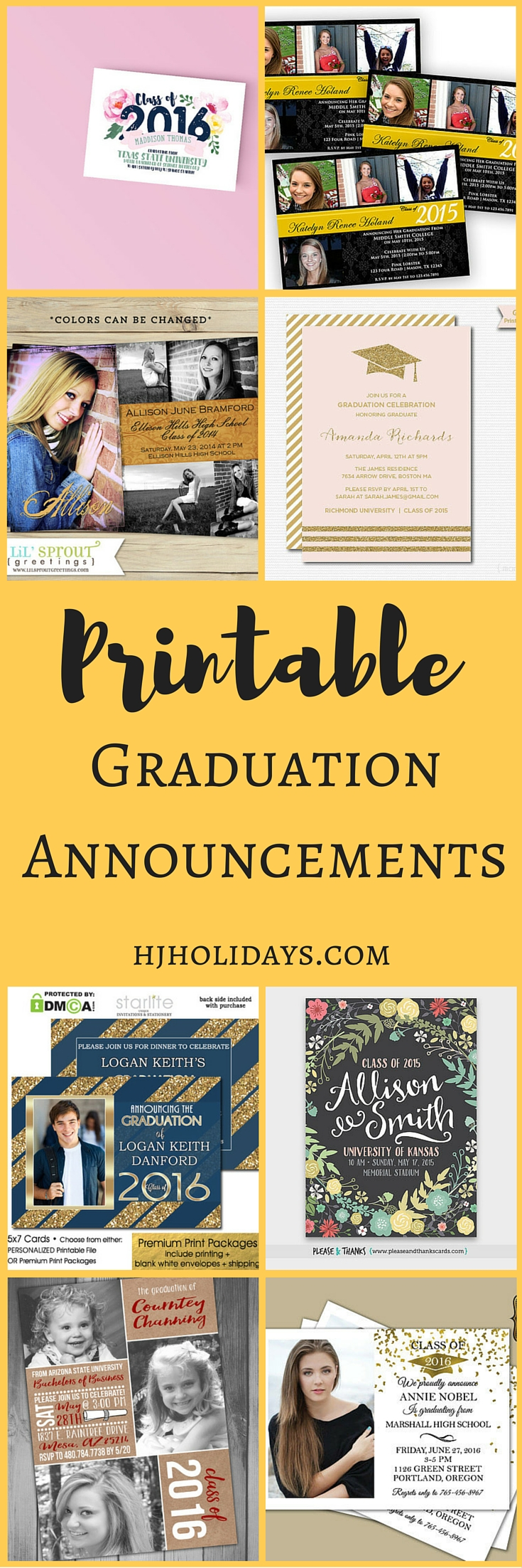Printable Graduation Announcements