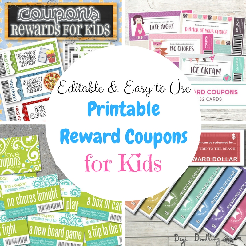 Editable and Easy-to-Use Printable Reward Coupons for Kids