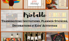 Printable Thanksgiving Invitations Planner Stickers Decorations & Kids' Activities