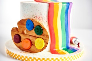 Rainbow Art Cake