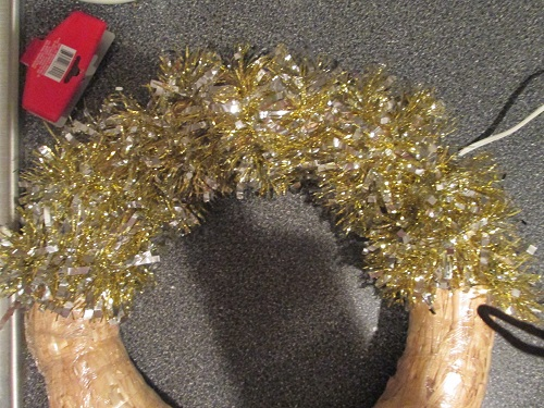 Wrapping the Wreath Base
