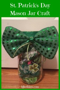 St. Patrick's Day Mason Jar Craft Gift