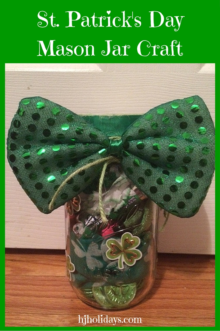 St. Patricks Day Mason Jar Craft