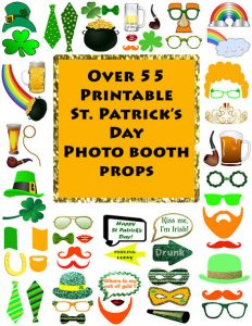St. Patrick's Day Printable Photo Props