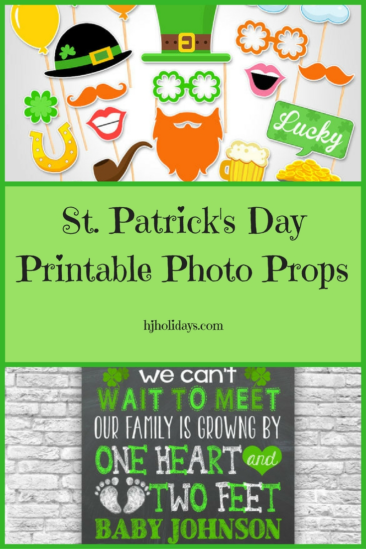 St. Patricks Day Printable Photo Props