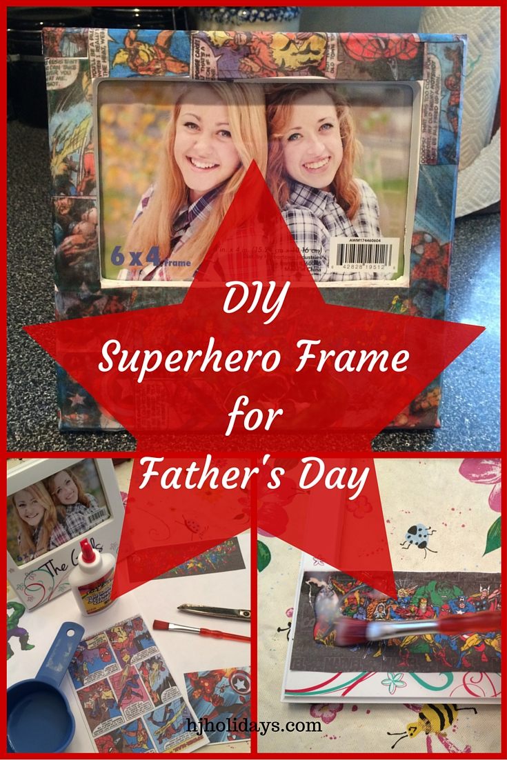 Superhero Frame for Fathers Day