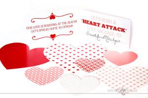 Valentine Countdown Heart Attack Activity