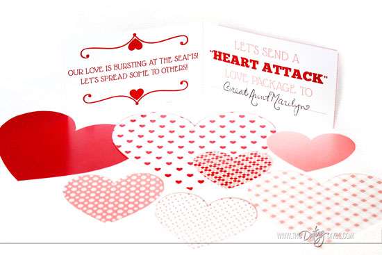 Valentine Countdown Heart Attack Activity