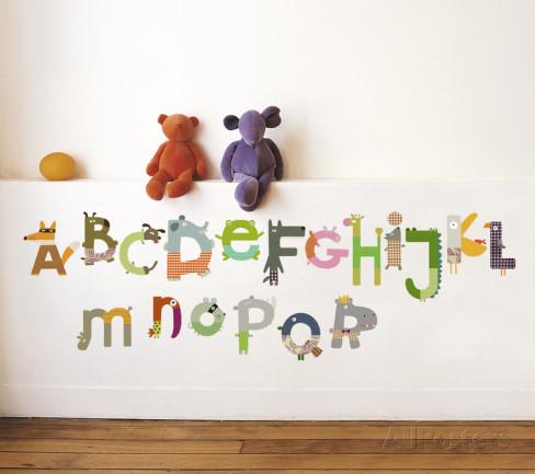 Animal Alphabet Wall Decals