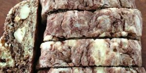 Marbled Gianduia Biscotti
