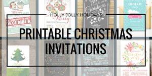 Printable Christmas Holiday Party Invitations