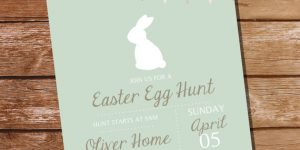 Printable Easter Egg Hunt Invitations