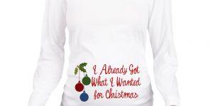 Funny Maternity Shirts for Christmas