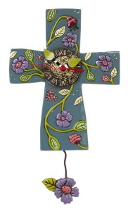 Allen Designs Cross Faith Grows Pendulum Clock