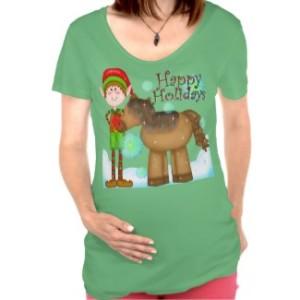 Christmas Elf Holiday Maternity t-shirt