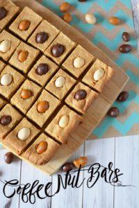 Coffee Nut Bars: Coffee M&Ms Dessert