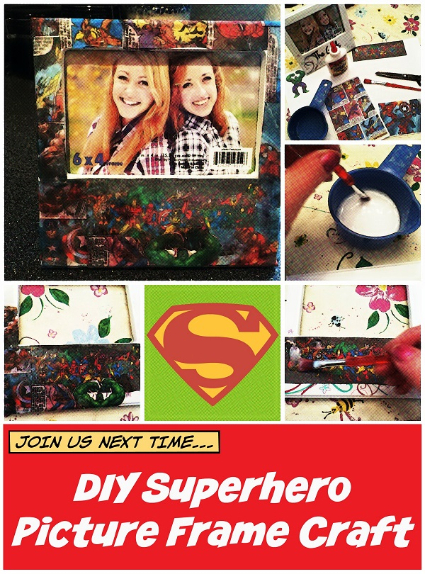DIY Superhero Picture Frame Craft for Father's Day