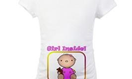 Girl Inside Maternity Shirt
