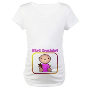 Girl Inside Maternity Shirt