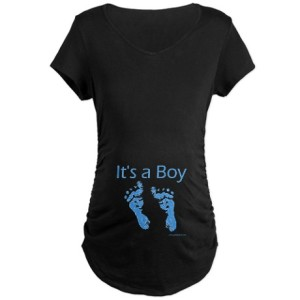 It's a Boy Baby Feet Maternity Shirt