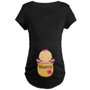 March Baby Maternity Shirt