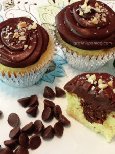 Divinely Decadent Salted Caramel, Macadamia & Chocolate Cupcakes