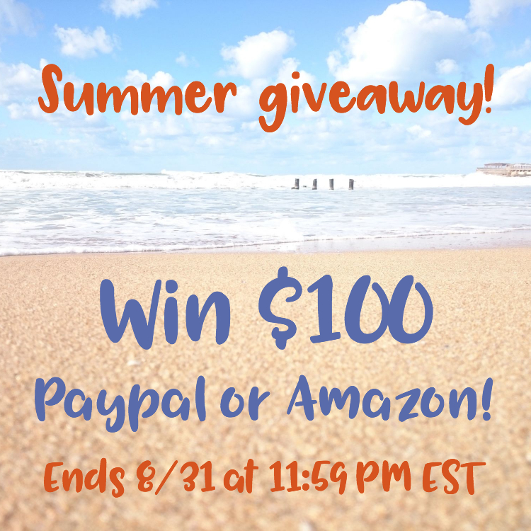 $100 Instagram Giveaway Ends Aug 31